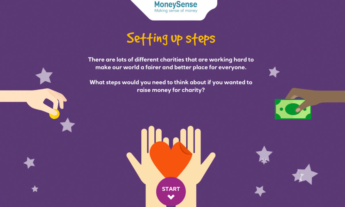 Interactive activity for Raising money for charity