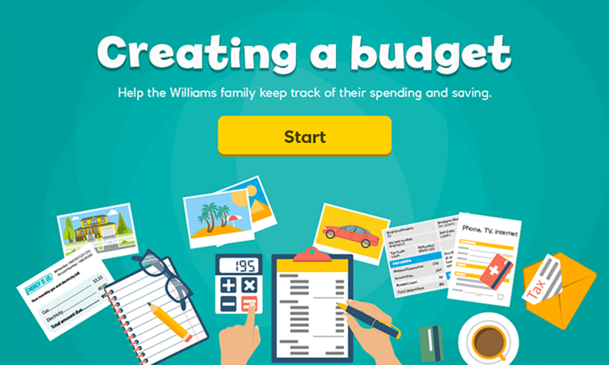 Interactive activity for How do I plan a simple budget?