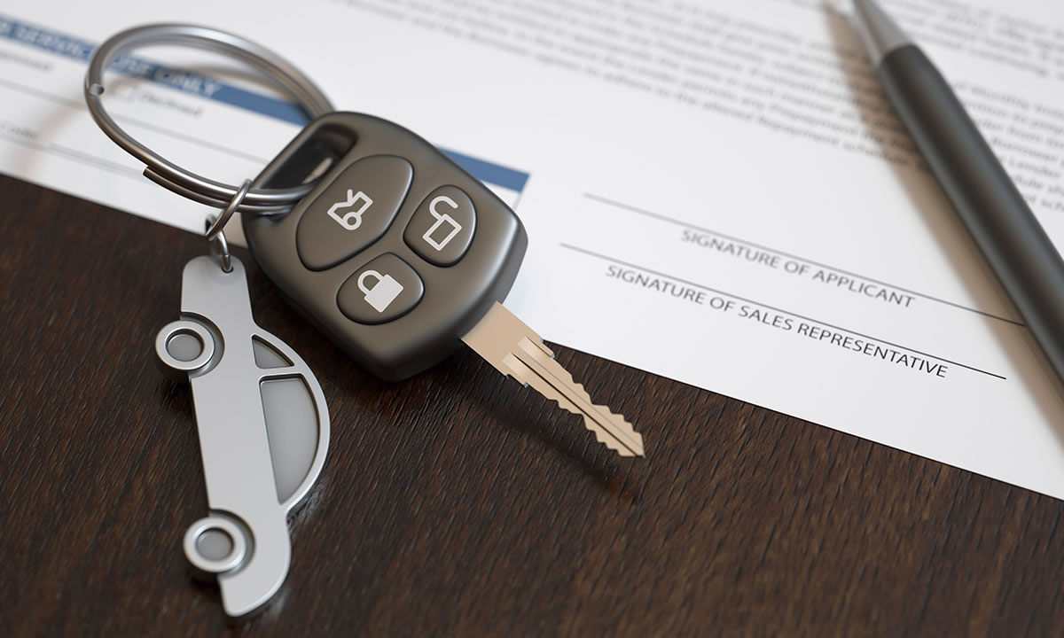 Car key and loan document