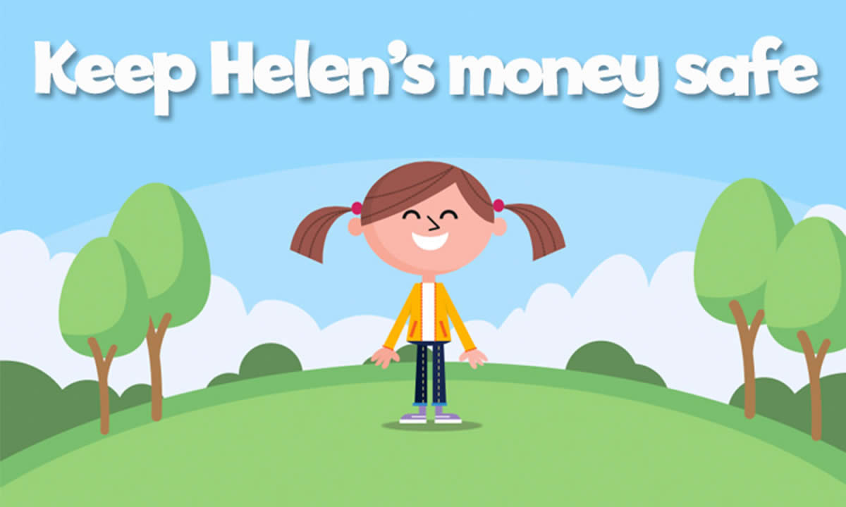 Keep Helen's money safe interactive activity
