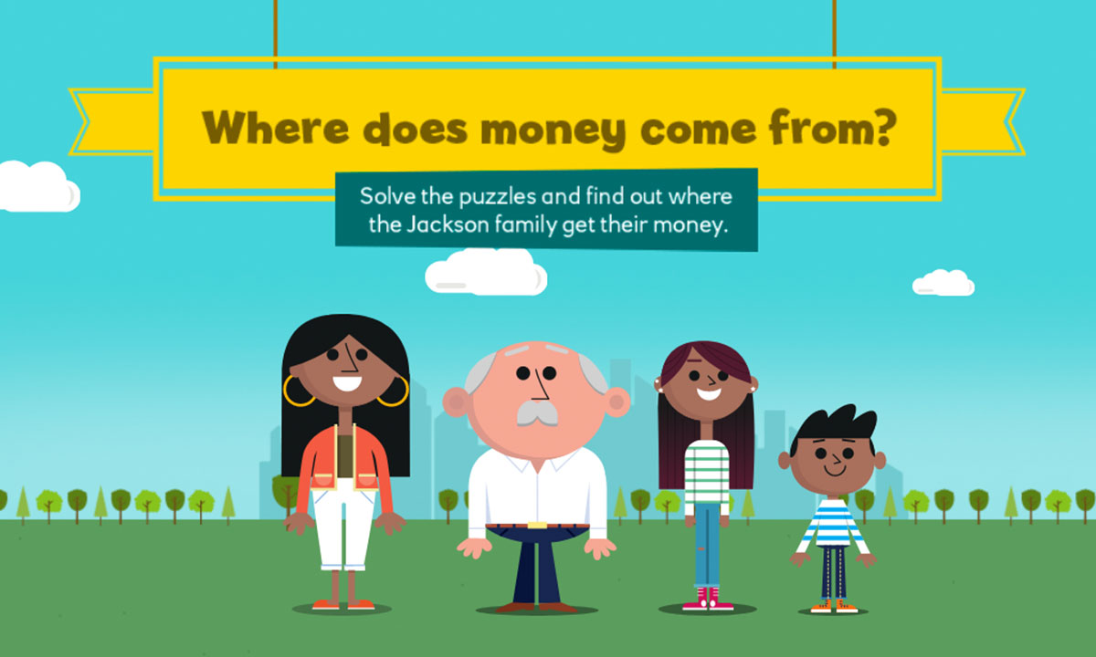 Where does money come from? interactive activity