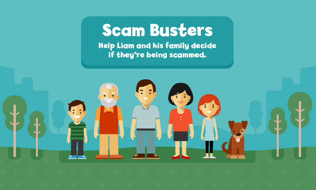 Scam Busters game