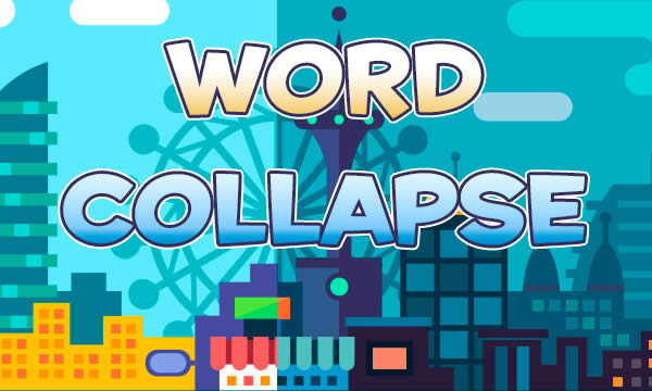 Word collapse game
