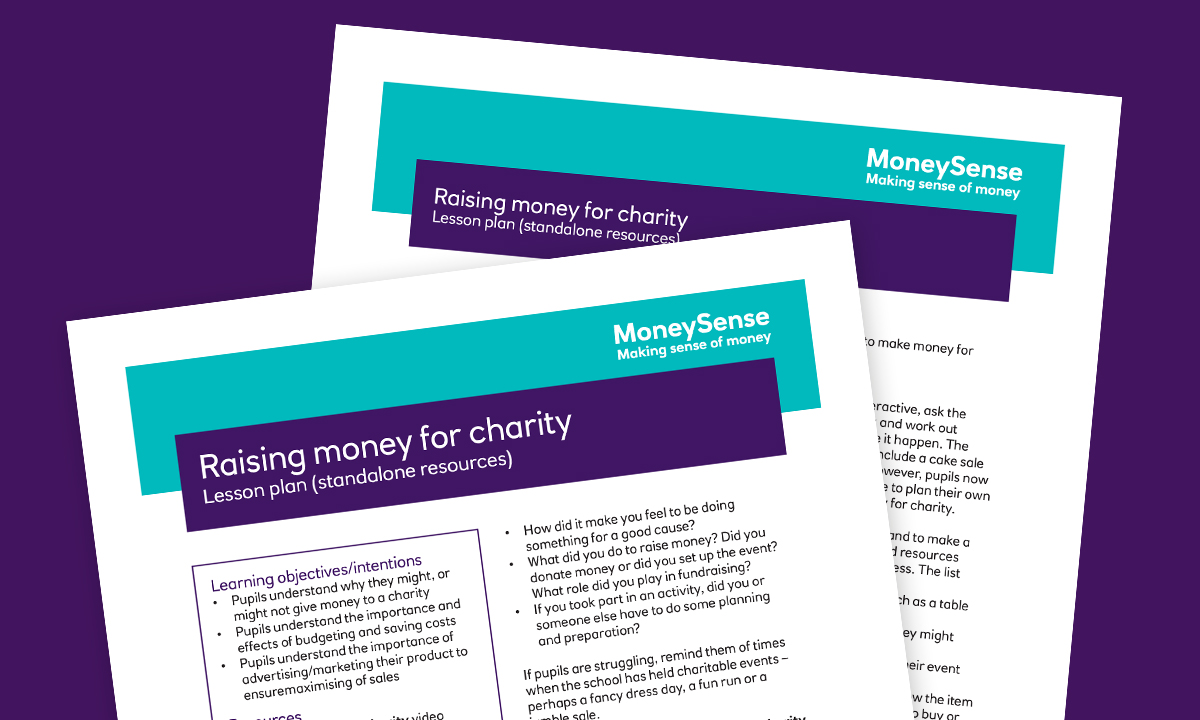 Lesson plan for Raising money for charity