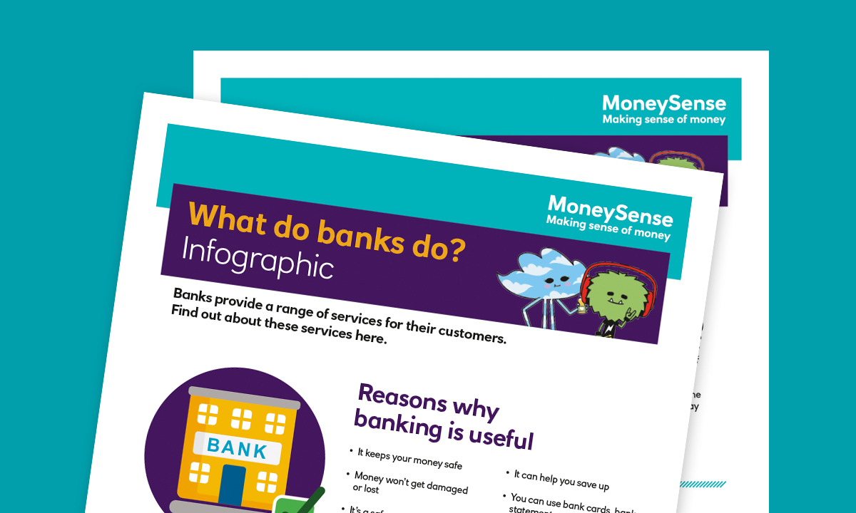 Infographic for How can I use a bank account?