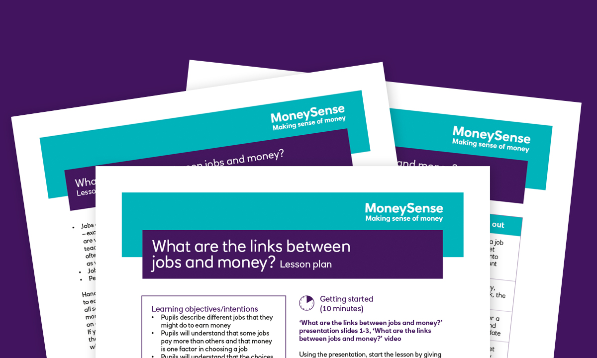 Lesson plan for What are the links between jobs and money?