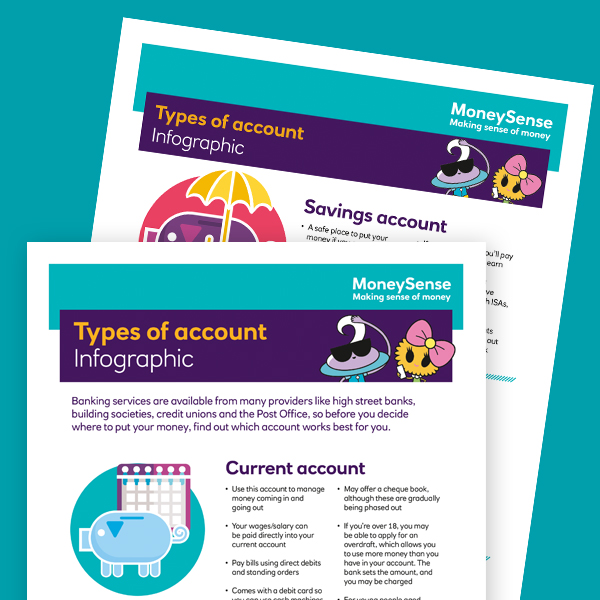 Types of account infographic