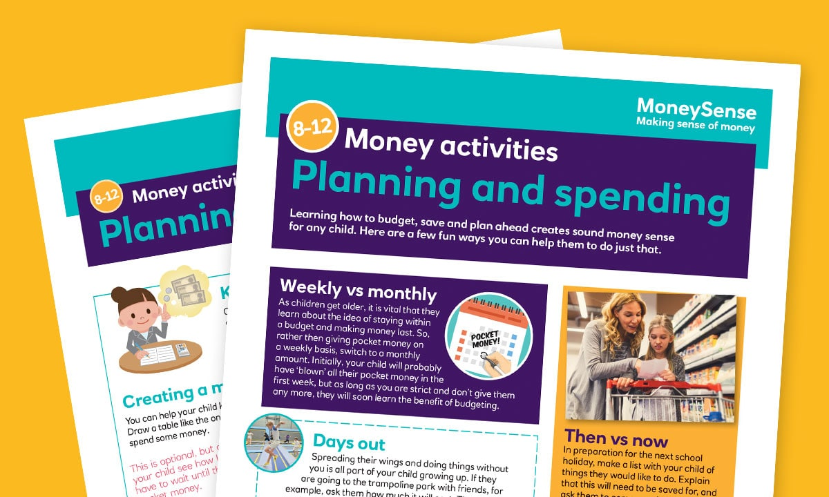 Money activities: Planning and spending