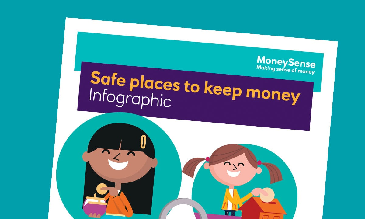 Infographic for Where can I keep my money safe?