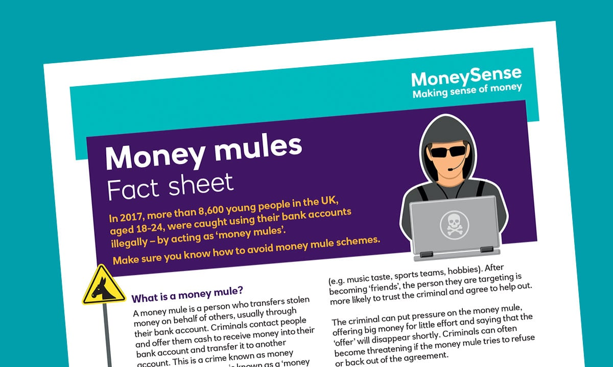 Fact sheet for How do I keep my finances secure?