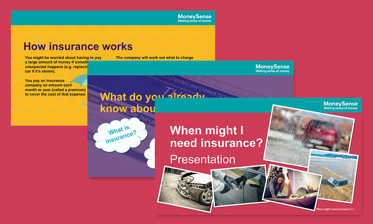 Presentation for When might I need insurance?
