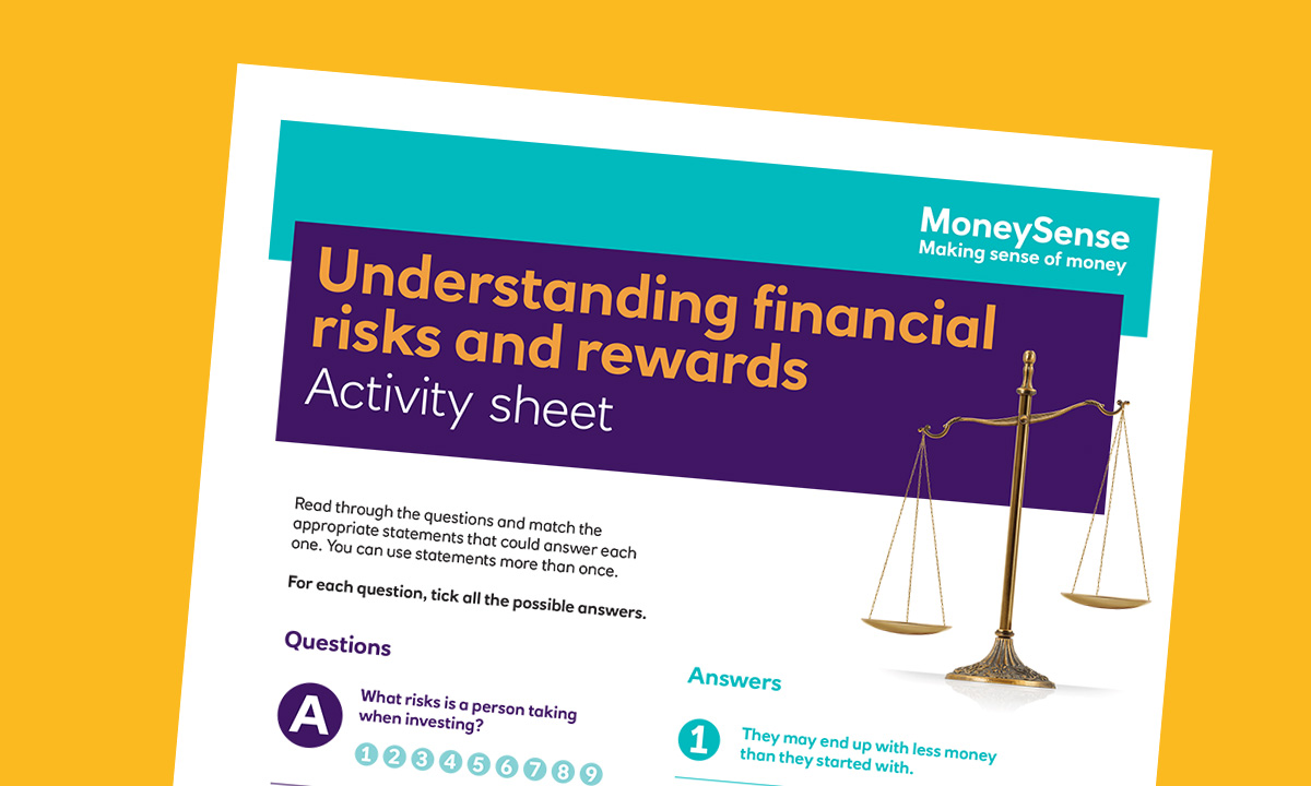 Activity sheet for How can I understand financial risks and rewards?