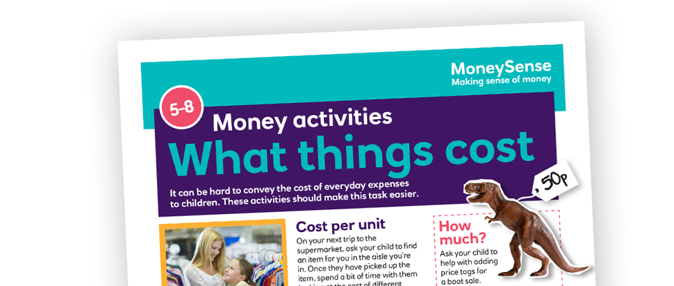 Money activities: What things cost
