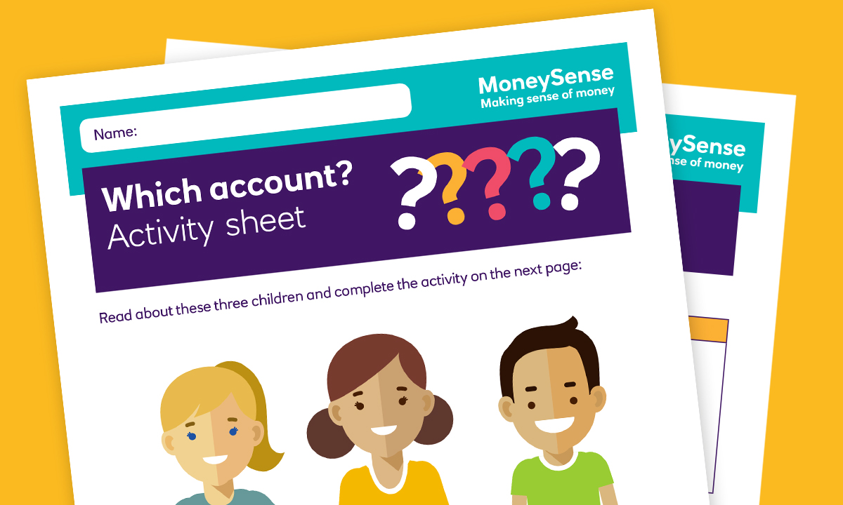 SEND activity sheet for How can I use a bank account?