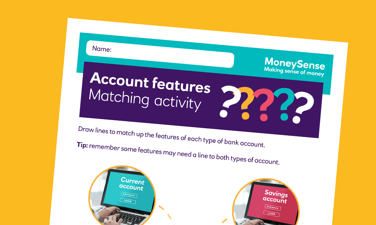 SEND matching activity for How can I use a bank account?